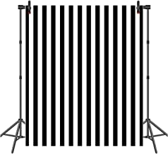 Hot Queen 6x8ft Black and White Vertical Striped Photography Backdrop Wedding Birthday Party Photo Background Vinyl Photo Studio Booth Background