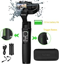 Hohem iSteady Pro  iSteady Pro updated version  3-Axis Splash Proof Action Camera Handheld Gimbal Stabilizer Compatible with GoPro 7 6 5 4 3  RX0  AEE  SJCAM  YI-CAM  Run time  Pan 600
