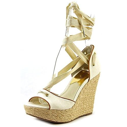 357f388380d6 Michael Kors Lilah Natural Wedge Sandals Size 9