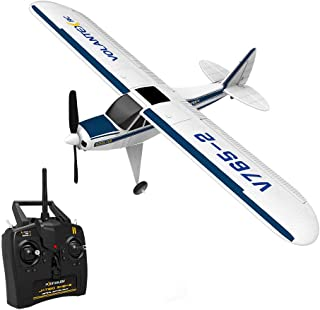Heberry Glider Flying Stable EPO RC Airplane with 2.4GHz 6-Axis Gyro 4CH V765-2 Cup RTF for Beginners,Strong Power System,12 min Flying time,Outdoor Toys Hobby
