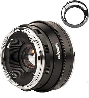 Pergear 25mm F1.8 交換レンズ Fujifilm Xマウントカメラ用 交換用レンズ f1.8-f16 明るい ボケ味 ポートレート 風景に最適 FujiカメラX-A1 X-A10 X-A2 X-A3 A-at X-M1 XM2 ...