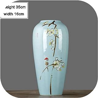 Modern New Chinese Three Piece Vase Ceramic Vase Flower Arrangement Zen Room Entrance Decoration,C