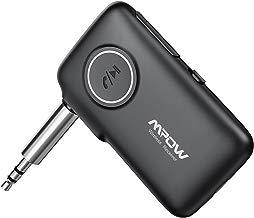 Mpow Nuovo V5.0 Ricevitore Bluetooth con CSR Core, 15 Ore Playtime e 30m Gamma, (Microfono Incorporato) Chiamate in Vivavoce e Navigazione Vocale, LED Light Design per Auto AUX, Cuffie, Altoparlanti