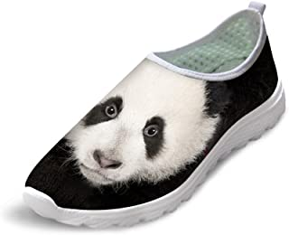 FUSURIRE Cute Cool Animal Print Shoes for Womens Girls Slip-on Breathable Non-Slip Sneakers Indoor Outdoor Walking Running Sneaker Shoes
