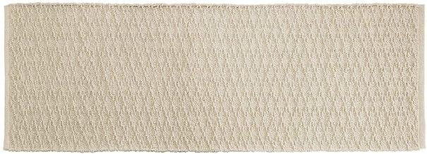 "mDesign Bathroom Cotton Rectangular Rug, Long Runner, 60"" x 21"", Cotton, Natural, Pack of 1"