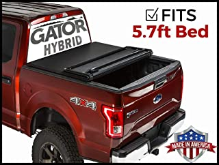 Gator Hybrid Hard Folding (fits) 2009-2018 Dodge Ram 5.7 FT Bed No RamBox Only Hard w/Soft Looks Tonneau Truck Bed Cover (GHF0221) Made in The USA