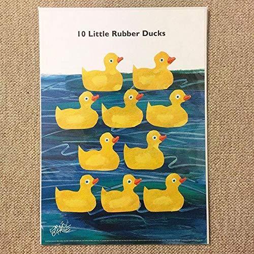 ミニ ポスター「エリック・カール 10このちいさなおもちゃのあひる」 サイズ:B4(25.7 × 36.4cm)