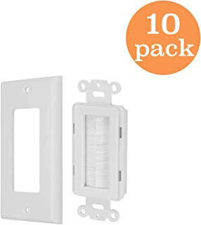 Tricom Brush Style Opening Passthrough Low Voltage Cable Plate (10 Pack)