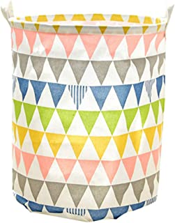 U-HOOME Large Sized Waterproof Foldable Canvas Laundry Hamper Bucket with Handles