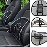 JM SELLER Car Seat Chair Massage Back Lumbar Support Mesh Ventilate Cushion Pad