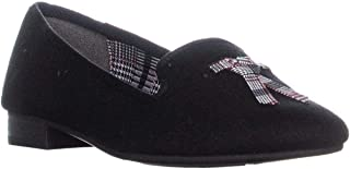 Charter Club CC35 Femmiie Front Bow Slip On Loafer Flats, Black
