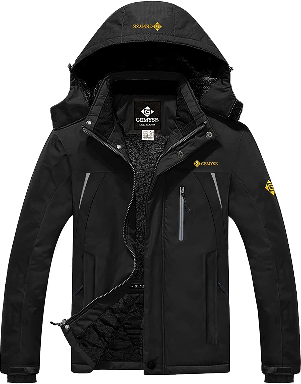 GEMYSE Men's Quantity limited Mountain Waterproof Max 40% OFF Ski Winter Windproo Snow Jacket