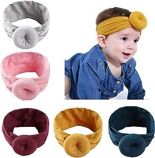 Baby Nylon Headbands Hairbands Hair Bow Elastics for Baby Girls Newborn Infant Toddlers Kids (Super soft-D)