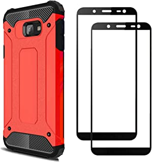 FANFO Case + 2 Pack Screen Protector Compatible with Samsung Galaxy J4 core, Detachable 2 in 1 Hybrid Armor Shockproof Tou...
