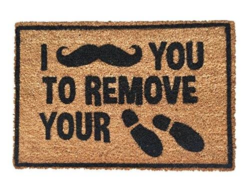 Rise8 Studios | Funny Outdoor Doormat 'I [Moustache] You To...