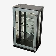 「DUET デュエット」ガラスコレクションケース ダークブラウン コレクション 背面ミラー ラック ボックス
