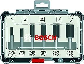 Jogo de fresas retas Bosch encaixe de 6 mm