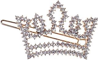 WANBAO Beautiful Crown Moda Scintillio Strass Vintage Barrettes Dolce Principessa Clip per Capelli, Geometrica Bangs Bangs...