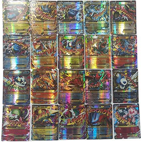 (80EX+20MEGA) 100 Pcs Pokemon EX Mega Energy Cards