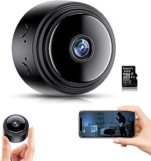Camara Espia Oculta,1080P HD Mini Cámaras Espía WiFi con IR Visión Nocturna Detector de Movimiento, Cámara Vigilancia Port...