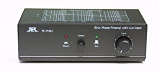 TCC TC-753LC BLACK Phono Preamp w/Level Control and AUX Input; includes optional PREMIUM HIGH POWER AC Adaptor