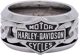 Harley-Davidson Men's Stainless Steel Chain Bar & Shield H-D Ring HSR0031