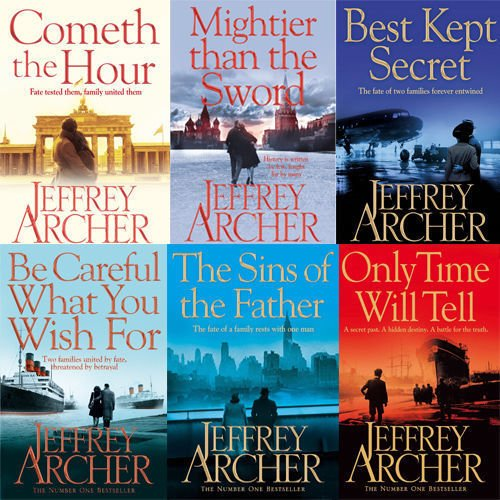 Clifton Chronicles Series Jeffrey Archer Collection 6 Books Bundle (Cometh the Hour, Mightier than the Sword, The Sins of the Father, Only Time Will Tell..