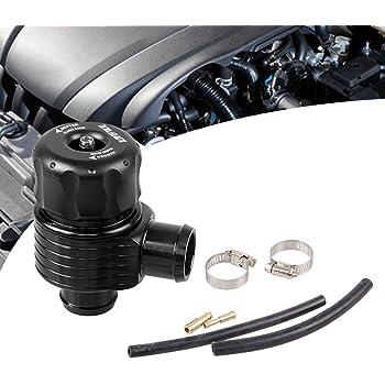 Universal 25mm//1inch Car CNC Aluminum Alloy Turbo Blow Off Valve Dump Valve Kit with Adapter Horn-shape Clamp /& Hose Blow off Valve Kit