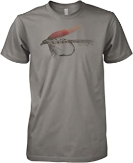 Fly Hand Sketch Charcoal Drawing Fly Fishing Shirt