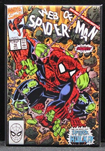 Web of Spider-Man #70 Comic Book Cover Refrigerator Magnet. Spider-Hulk!