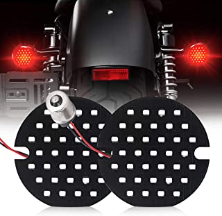 3 1/4 Inch 1156 Rear Turn Signals Red Running Light Motorcycle Led DRL Light Compatible for Harley Davidson Road King Road Glide Classic Ultra Softail Ultra Limited Electra Glide Dyna Street Glide