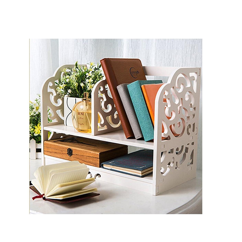 品揃えタンク銀行木製 2段ラック 本棚 木製 ブックエンド 本立て ブックスタンド ブックオーガナイザー 学校 オフィス 部屋 卓上収納
