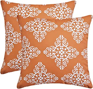 Andreannie Pack of 2 Outdoor Waterproof Decorative Throw Pillow Cover Cushion Case for Garden Patio Tent Park Farmhouse Po...
