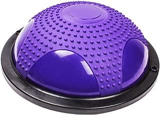 GLJJQMY Yoga Hemisphere Ball Balance Ball Pola Pilates Fitness Equipment Thickened Explosion-Proof 4 Colors Massage Balance Ball (Color : A)