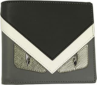Bugs Eye Men's Black Leather Bi-fold Wallet 7M0169 8FJ
