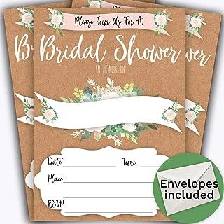 boho bridal shower invitations