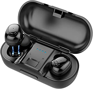 Wireless Earbuds Bluetooth 5.0 Headphones - Latest True Bluetooth Earbuds Sports Earphones, HiFi 3D Stereo Sound with 25H Playtime, Physical Noise Reduction, Portable Charging Case and Built-in Mic