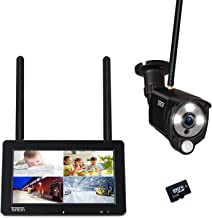"""Tonton 1080P Portable LCD Security Camera System Wireless,4CH NVR Kit with 7"""" IPS Touchscreen Monitor and 2.0MP 2-Way Audi..."""