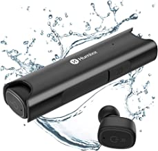 Humixx Wireless Earbuds, Bluetooth 5.0 True Wireless Headphones IP67 Waterproof 3D Stereo Sound, Deep Bass Noise Cancelling TWS in-Ear 6H Playtime with Portable Charging Case and Microphone (Black)