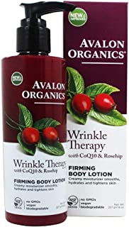 Avalon Organics Wrinkle Therapy with CoQ10 & Rose-hip Firming Body Lotion, 8 Ounce(pack of 1)