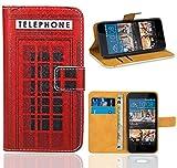 HTC Desire 728 728G Handy Tasche, FoneExpert Wallet Hülle Flip Cover Hüllen Etui Ledertasche Lederhülle Premium Schutzhülle für HTC Desire 728 728G