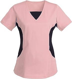 Women's Workwear QUINTRA V-Neck Tops Work Uniform Healthcare Nurses Doctors Pocket Blouse