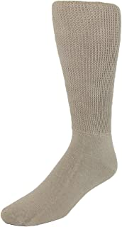 Extra Wide Sock Co. Men's Cotton Mid Calf Athletic Socks
