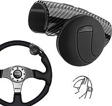 Nero Manopola del Volante,Montare in Modo Sicuro e Ruotare Senza Sforzo Senza Rumore Controllo Flessibile Spinner Volante per Auto