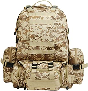 9d95e1f3ae03 Amazon.com: 50l hiking camping bag military tactical trekking rucksack