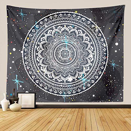 "GUORUI Mandala Indio Tapiz de Pared Tapices de Mandala Colgantes Ombre Colcha de algodón Indio Manta de Picnic ,Tapestry Decoración de Pared para Dormitorio Sala de Estar (XL 230x180CM (91""x71""))"