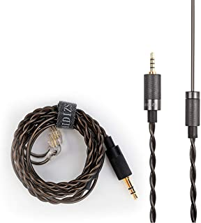 HIDIZS Detachable Balanced Earphone Cable, 2.5mm Plug Replacement Headphone Audio Cord Headphone Upgraded�Cable-2 Pin 0.78mm IEM Cord for for MS4 MS1 KZ ES4 ZSR ZST ZSR ED16 ZS10 TFZ TRN V20 V10 Earph