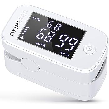 Wawech 3 in 1 Saturimetro Professionale Pulsossimetro da dito con Letture Immediate Ossimetro per Saturazione di Ossigeno(SpO2), Frequenza Del Polso(PR) e Indice di Perfusione(PI)