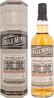 Douglas Laing CRAIGELLACHIE Single Minded 10 Years Old Speyside Region mit Geschenkverpackung Whisky 1 x 0.7 l