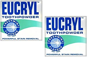 2 x Eucryl 50g Smokers Freshmint Toothpowder by Eucryl